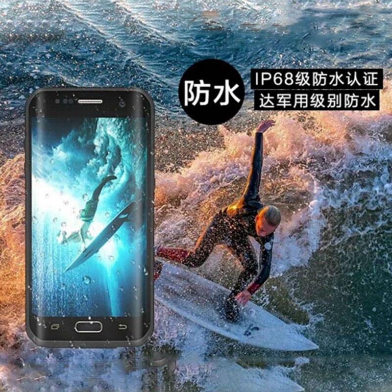 Цена за S7 Edge Водонепроницаемый Чехол Всего Тела Герметичные Крышки для Samsung Galaxy S7 Край Подводные 2 м Крышка Жесткий Броня Case Water Resistant