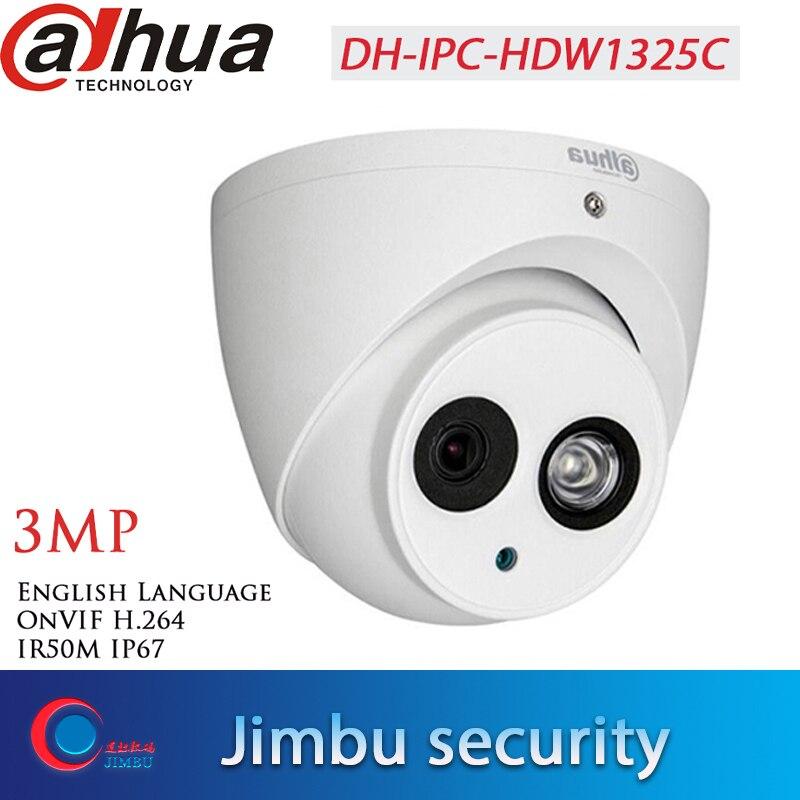 Dahua Original Genuine 3MP H 264 IP67 ONVIF IP Camera 1080p IPC HDW1325C IR 50M Surveillance