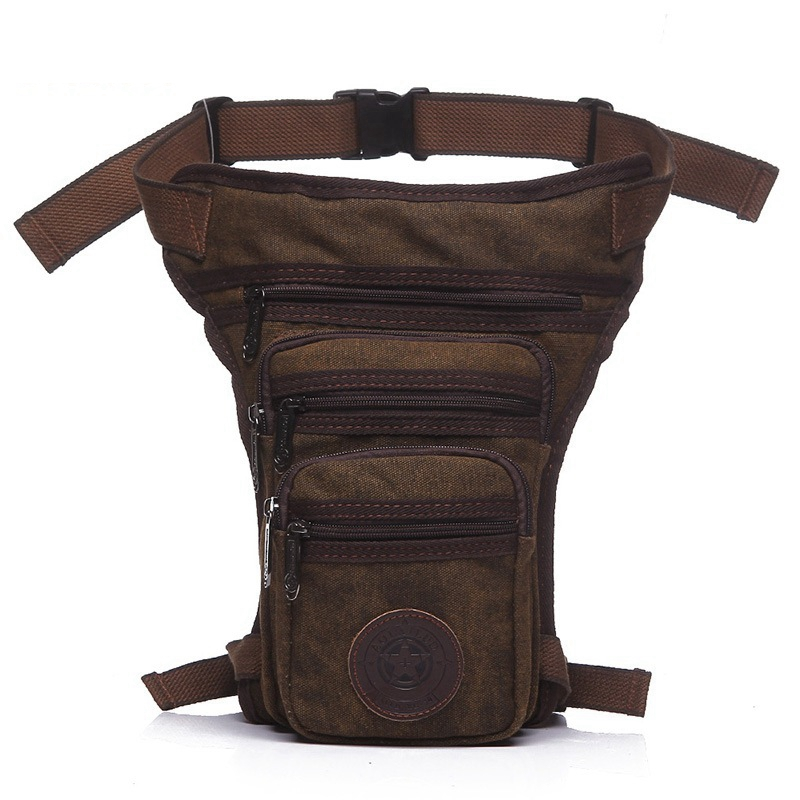 casual waterproof canvas waist pack military bag men fanny leg fashion thigh hip pouch 4 colors