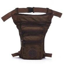 цена на casual waterproof canvas waist pack military waist bag men fanny pack waist leg bag fashion thigh bag hip waist pouch 4 colors