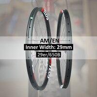 29er All mountain Enduro carbon fiber mtb wheelset tubeless compatible WM i29