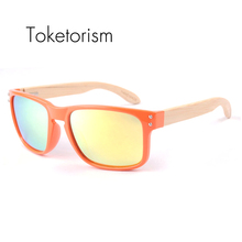 Toketorism bambu oculos high fashion men polarized sunglasses women bamboo sun glasses 7021