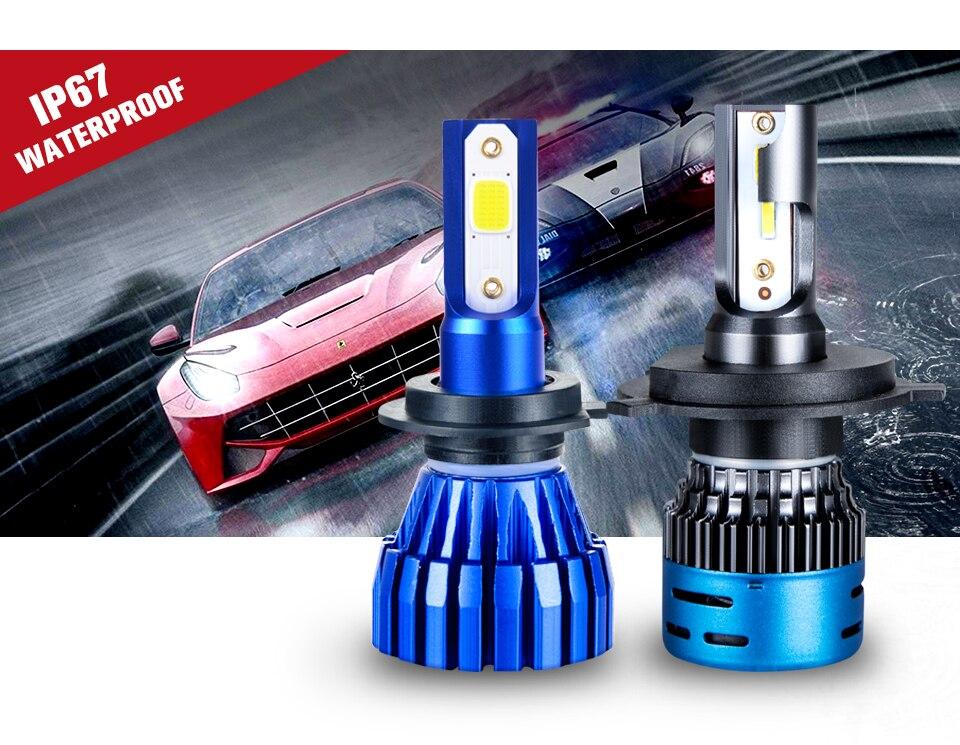 LED H7 H4 LED Car Headlight bulb 3000K 4300K 6500K 8000K H1 H11 H8 9005 9006 HB3 12V COB 5000LM 1860 10000LM 50W Fanless fan (6)