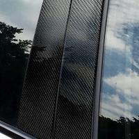 6pcs Car Auto Carbon Fiber Pillars Column Sticker Part Set For BMW 3 Series E46