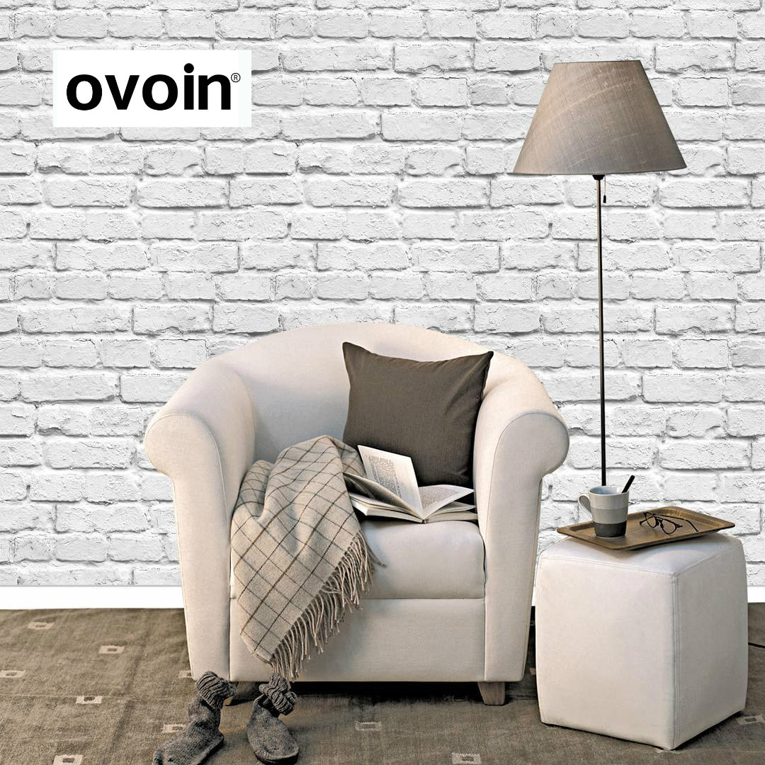 Modern Vintage 3D Stereo Effect White Brick Wallpaper Roll Vinyl PVC Rustic Realistic Faux Brick Wall Paper Waterproof