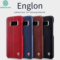 For Samsung Galaxy S8 Leather Case Original Nillkin Englon Luxury Classic Back Skin For Samsung S8