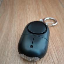 50pcs newly designed black color Women attack alarm Personal defense self defense device personal guard alarm