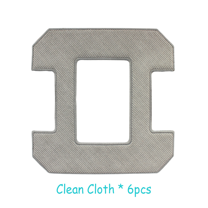 Robot window cleaner grey clean cloth*6pcs per set for model X6 cop rose x6 smart robot window cleaner page 10