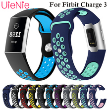 Round hole silicone band For Fitbit Charge 3 frontier/classic wrist strap For Fitbit Charge 3 smart watch wristband accessories все цены