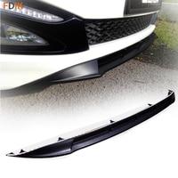 Matte Black Front Bumper Skit Lip Trim Wing Spoiler Cover For Kia K5 Optima K5 SX 2011 2012 2013