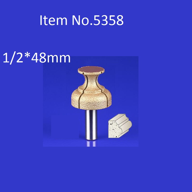 1PC 1 2 48mm CNC Engraving Bits Diamond Sand Diamond End Milling Cutter On Cutting Trimming