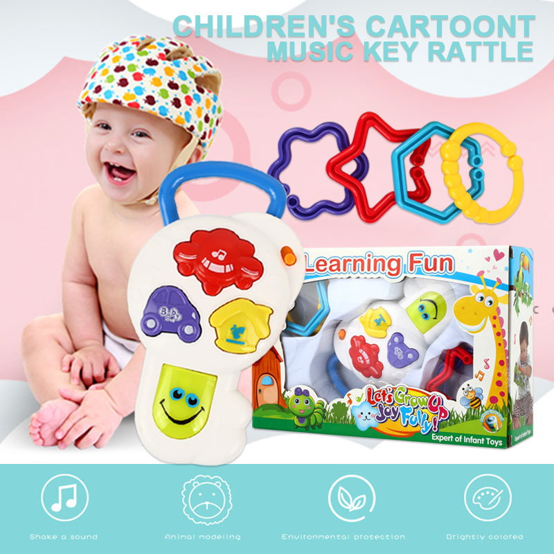 Smart игрушка-ключ погремушка музыкальный игрушка-ключ многоцветный пластик Smart Remote Kidsroom Музыка Мода Электрический модель