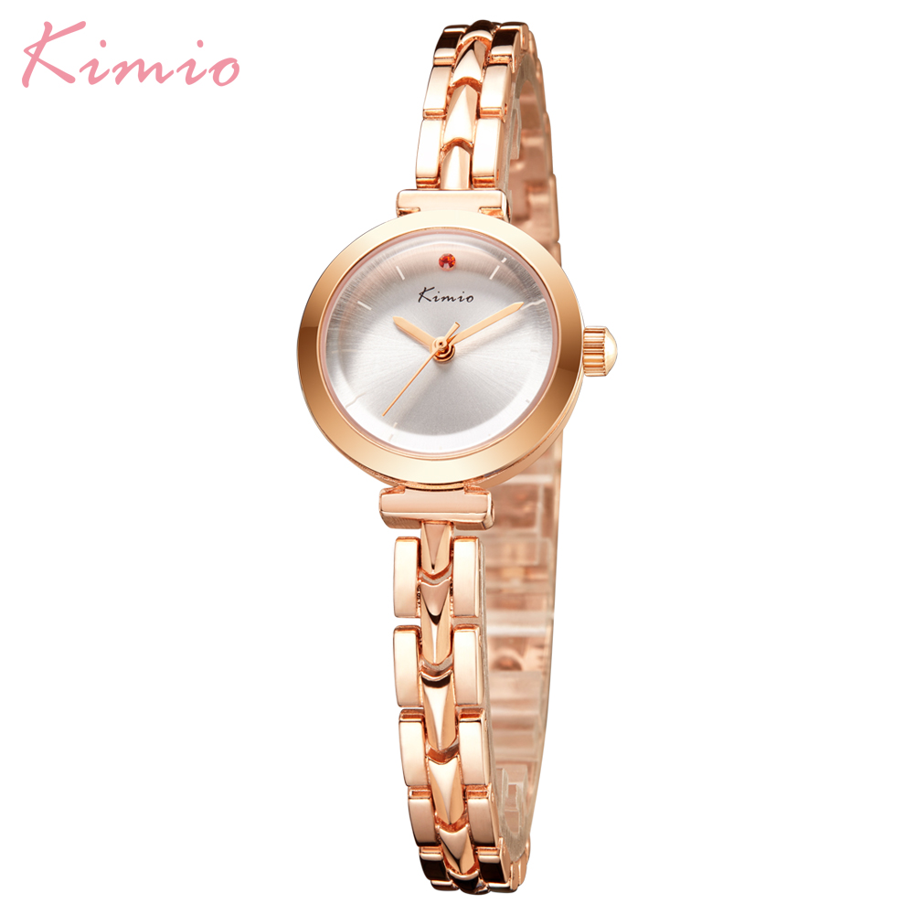 Kimio Simple Fashion Small Dial Women Watches Alloy Bracelet Wristwatches Waterproof Quartz Clock Lady Gift Horloges Vrouwen Box