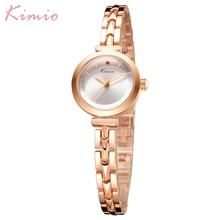 Kimio Simple Fashion Kleine Wijzerplaat Dameshorloges Lichtmetalen Armband Horloges Waterdichte Quartz Klok Dame Gift Horloges Vrouwen Doos
