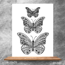 ZhuoAng Butterfly specimen Transparent Seals for DIY scrapbooking photo album Clear Stamps