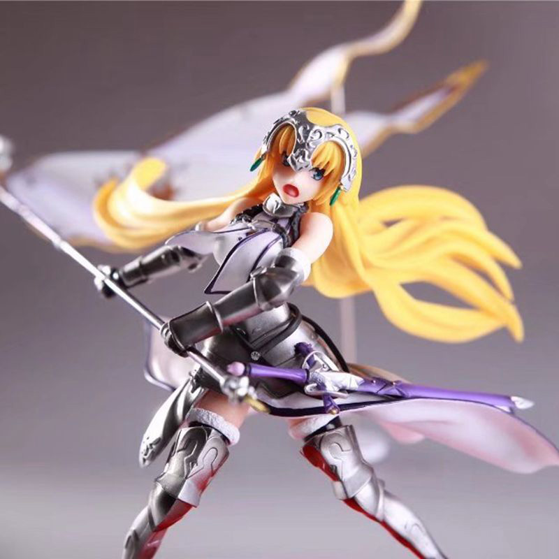Fate Grand Order Joan of Arc Action Figure Waving Flags PVC Action Figure Collectible Model Toy no retial box (Chinese Version)