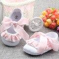 Девушка Новорожденный Обувь Кросс-Привязанные Chassure Дочь Принцесса Обувь Новорожденных Девочек Сначала Ходунки