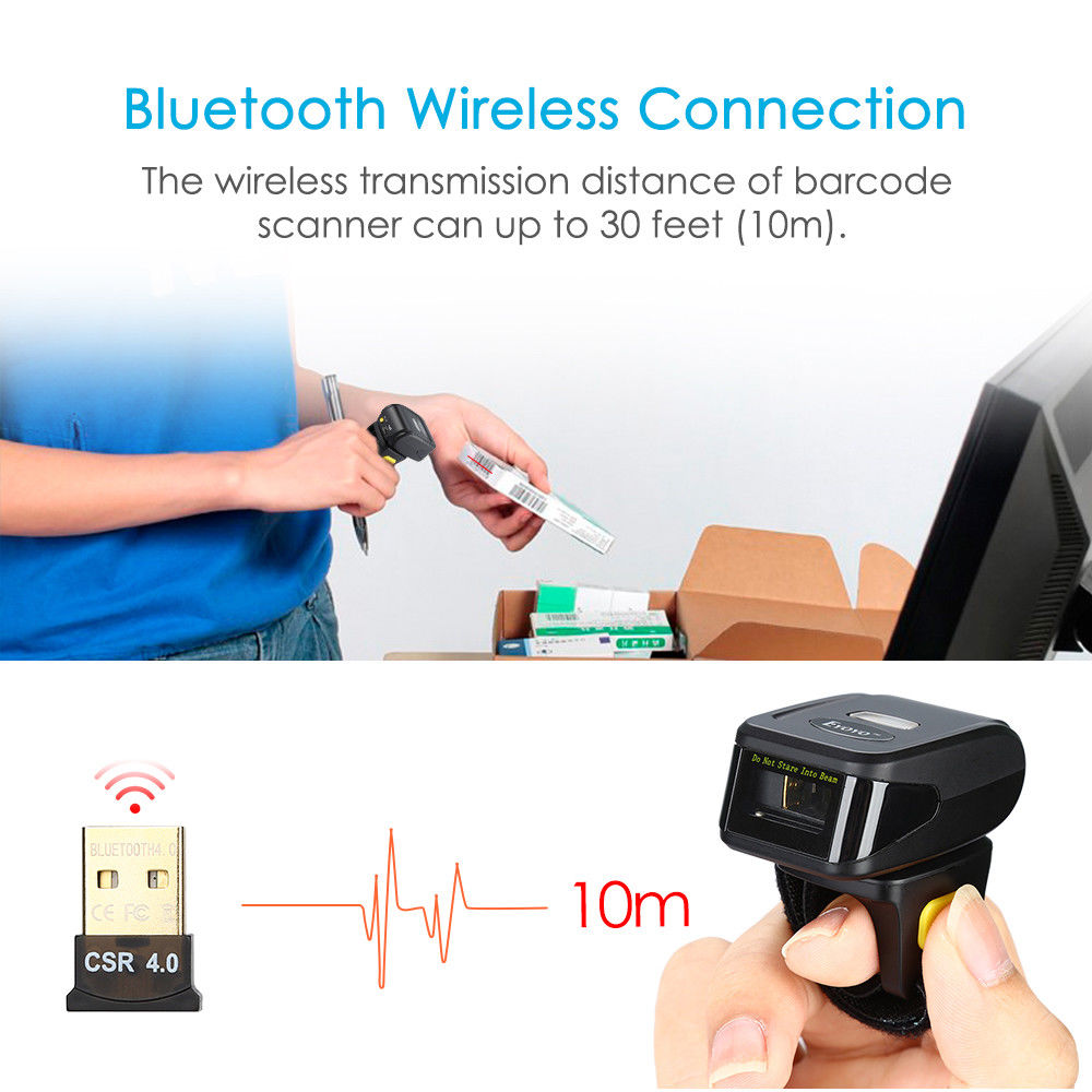 Портативті 1D штрих-кодты сканер Bluetooth - Кеңсе электроника - фото 3
