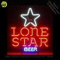 Неоновая неоновая вывеска для пива Lone Star  неоновая вывеска для неоновых ламп  стеклянная трубка для пивного паба  ручная работа  коммерчески...