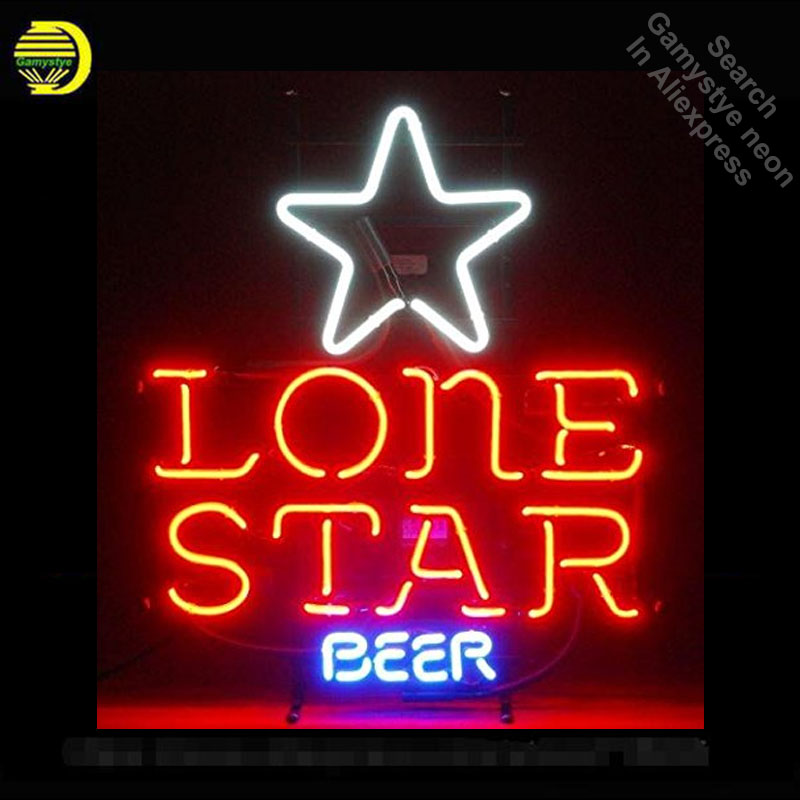 Lone Star Beer Neon Sign neon bulb Sign Neon light Sign glass Tube Beer Pub Handcraft Commercial Iconic Sign Neon Bulbs lightsLone Star Beer Neon Sign neon bulb Sign Neon light Sign glass Tube Beer Pub Handcraft Commercial Iconic Sign Neon Bulbs lights