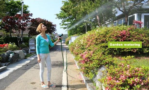 бесплатная доставка! фу slang расширения GI или сад трубы зеленый клапан + спрей пара - ( 1 комп. = 1 шт. slang + 1 шт. Fortuna