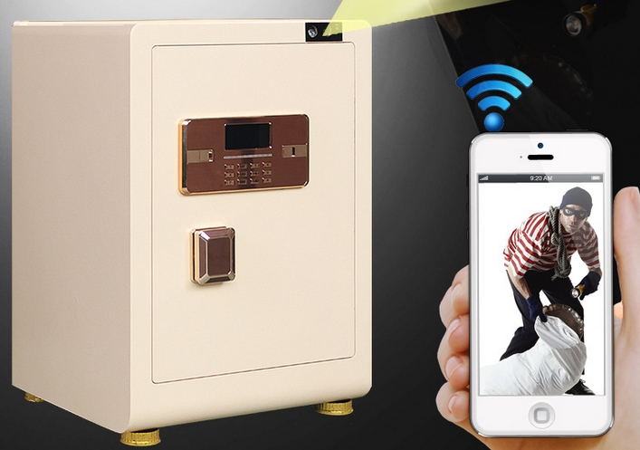 Fingerprint Facial Recognition Safe App Remote Monitor Video Control Wifi Office Home Electronic Lockers Safes