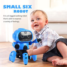 963 Buiding Robot Kit DIY Intelligent Induction RC Robot with Following Gesture Sensor for Children Kids Christmas Birthday Gift(China)