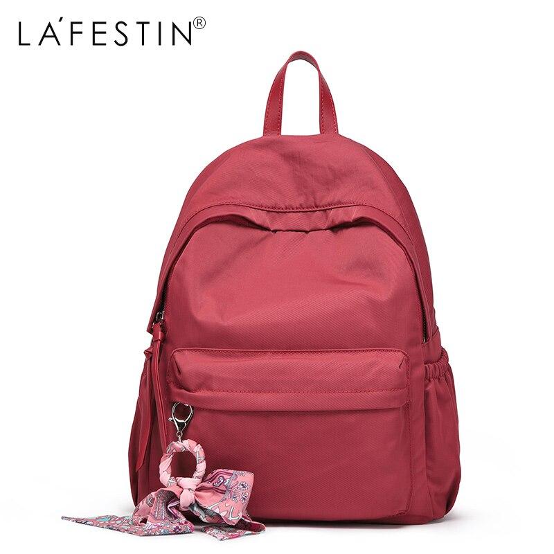 LAFESTIN femmes sac à dos école sac à dos pour filles adolescente livre sac ruban ornement mode voyage sac à dos mochila