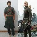 Hot Game Anime Movie The Hobbit Legolas Uniform Clothing Cosplay Costume Daily Coat Full Set