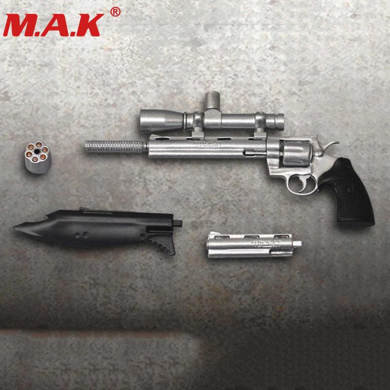 """1/6 arma modelo arma brinquedo sliver cor python pistolas em miniatura brinquedo apto para 12 """"figura de ação acessórios"""