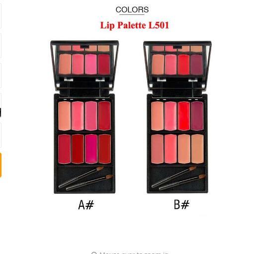 Menow Brand 8 colors Lip Gloss Palette Makeup Waterproof Lasting Moisturizer Lipsticks Women beauty lips Cosmetic Lip 6