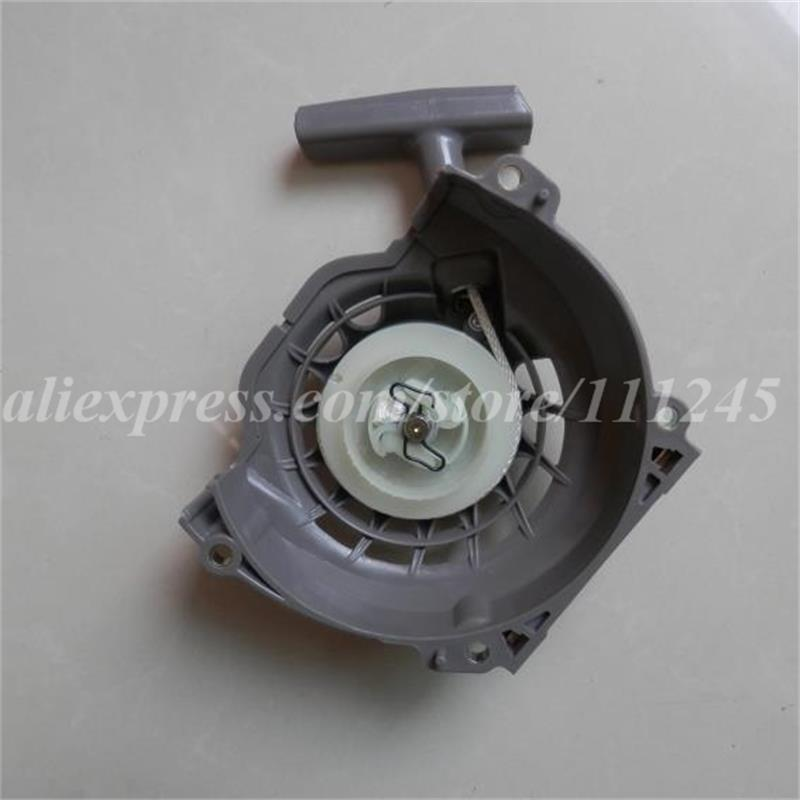 RECOIL STARTER ASSEMBLY FITS CHINESE 1E48F 63cc 2 STROKE AUGER DIGGER PULL START W/ GRIP ASSEMBLY PLANTER HUASHENG PARTS recoil starter assembly steel ratchet od 165mm for robin ey15 series 3 5hp 4 stroke pull start 226 50211 00