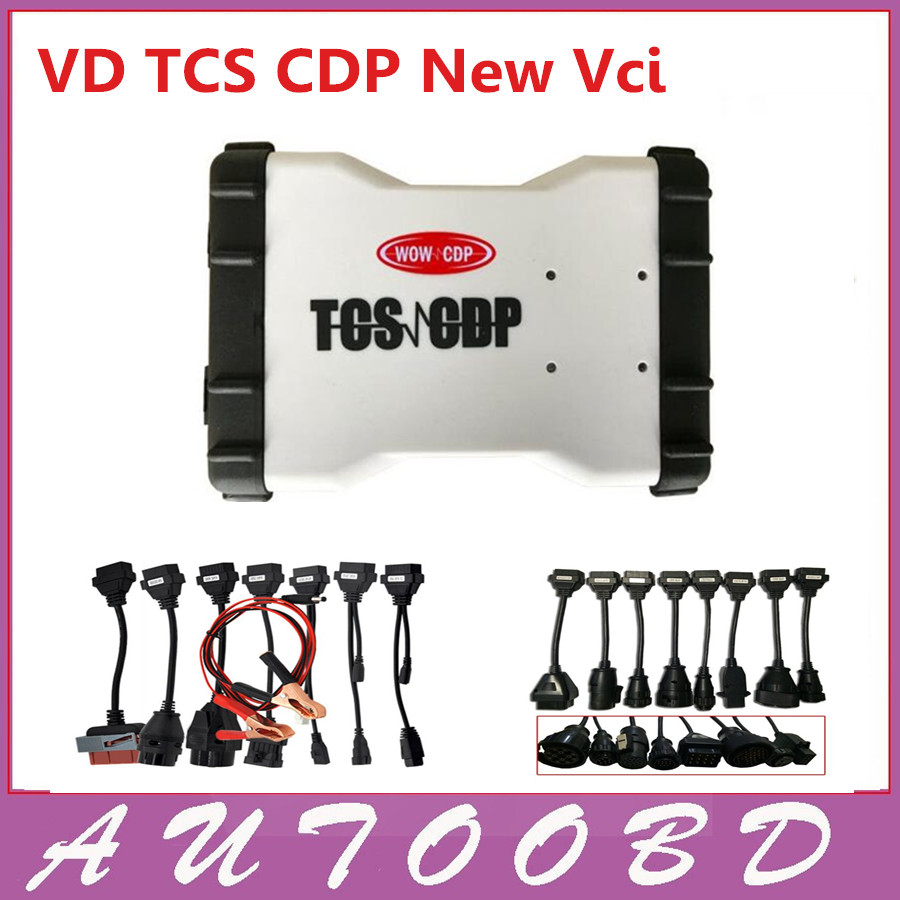 Cool Price VD TCS CDP (2015.R3 Keygen )White Color CDP+ 8 CAR Cables+8 Truck cables obd2 OBDII OBD II Scanner-DHL Free shipping 5 psc lot diagnostic tool connect cable adapter for tcs cdp plus pro obd2 obdii truck full 8 trucks cables for cdp by dhl free