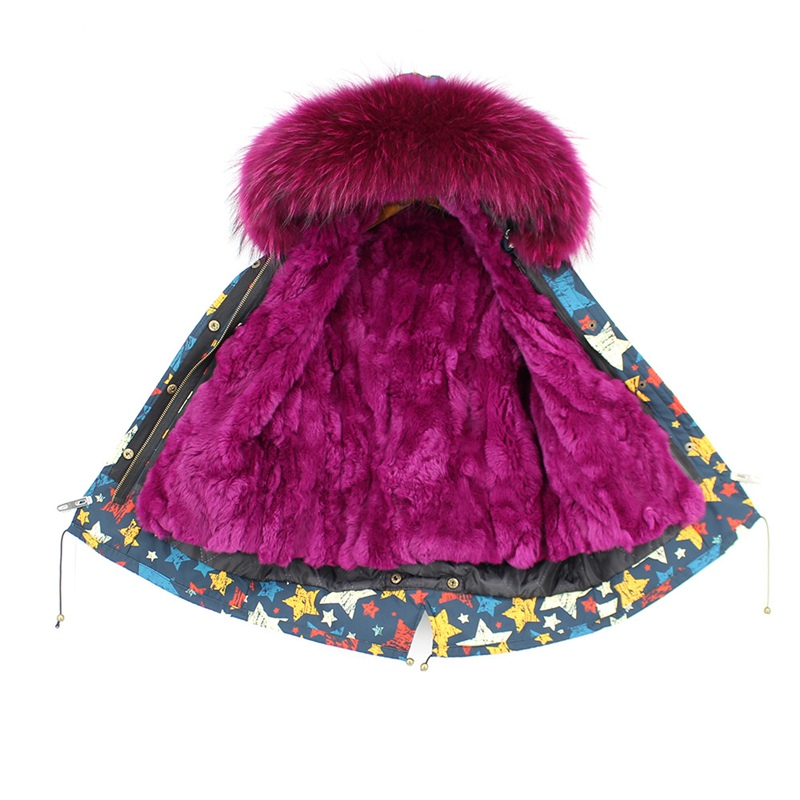 child winter real fur parkas coat (3)