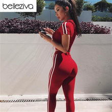 0799e349f Belleziva mujeres Fitness Yoga Set gimnasio deportes Running chándal con capucha  Jogging danza traje de deporte ropa de entrenam.