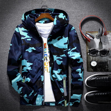 c1583bf8563 New Camouflage Jacket Men Women Plus Size Camo Hooded Windbreaker Jackets  Military Canvas Jacket Parka Fashion