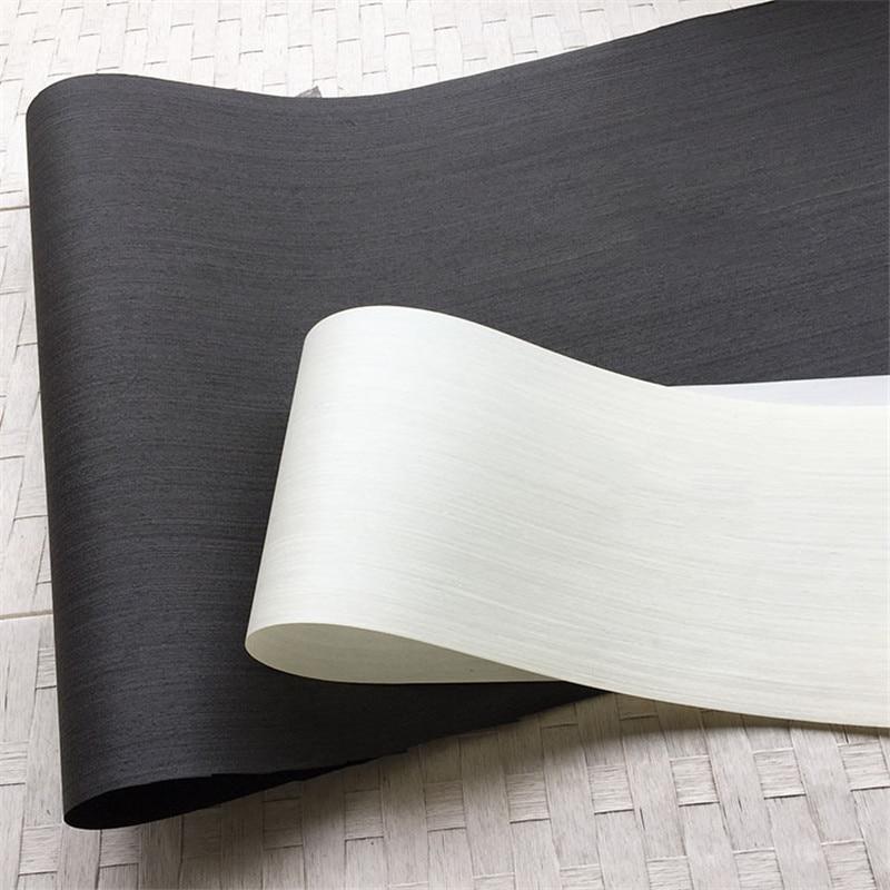 Artificial Veneer Technical Veneer Sliced Wood Engineering Veneer E.V. Black White 64x250cm Tissue Backing 0.2mm Thick Q/C