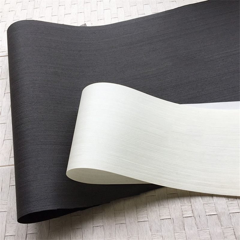 Technical Veneer Sliced Wood Engineering Veneer E.V. Black White 62x250cm Tissue Backing 0.2mm Thick Q/C
