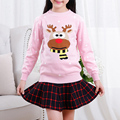 Girls New Fashion Autumn Knit Children Clothing Soft Fabric Knitted Sweater Character Kids Warm Winter Cotton Outerwear XL553