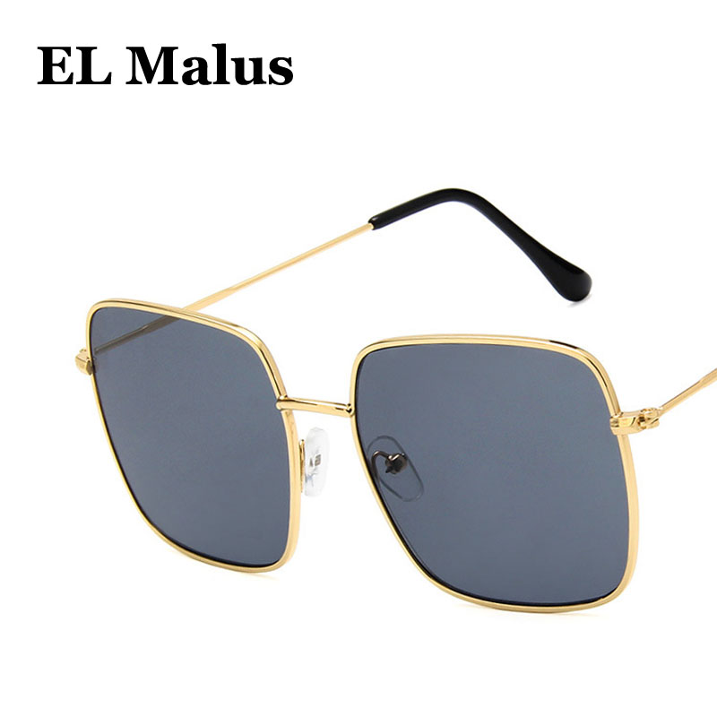big Metal Frame Square Sunglasses Women Men Oversized Vintage Brand Designer Pink Black Sun Glasses Eyewear Sg060 For Fast Shipping Women's Sunglasses el Malus Back To Search Resultsapparel Accessories