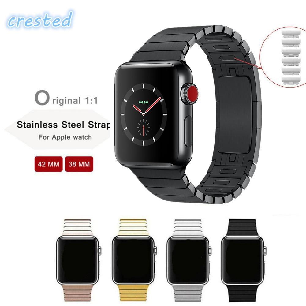 316l acero inoxidable para Apple Watch 3/2/1 banda de pulsera 38/42mm Correa desmontable cinturón hebilla de metal para iwatch