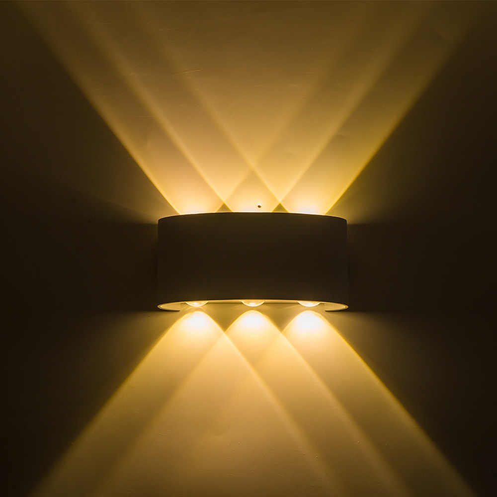 Up down led wall lamp waterproof ip65 wall light led 6w bedroom lights wall sconce indoor outdoor lighting porch led