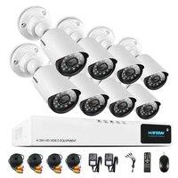 H View 720P Video Surveillance System 8CH CCTV Security Kit 8PCS 720P Outdoor Security Camera 8