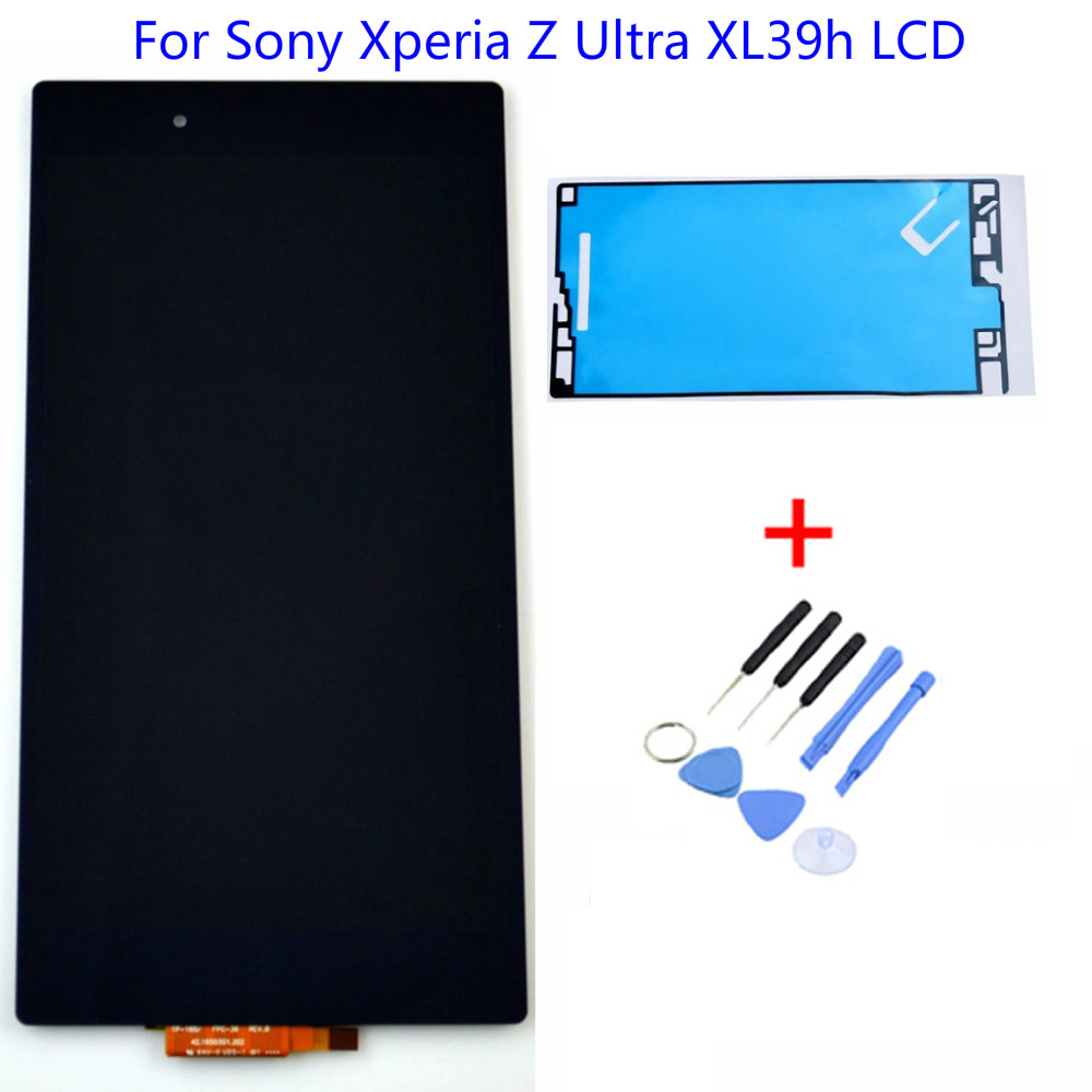 LCD Dispaly Touch Screen Digitizer + Adhesive+Tools For Sony Xperia Z Ultra XL39h XL39 C6806 C6802 C6833 Free Shipping Black