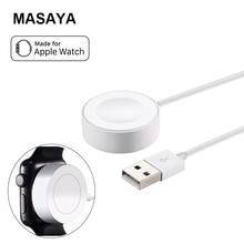 Масая Зарядное устройство для Apple Watch Зарядное устройство 2 м/6.5ft Магнитный зарядный кабель Зарядное устройство для Apple Watch 2 3 1 38 мм/42 мм