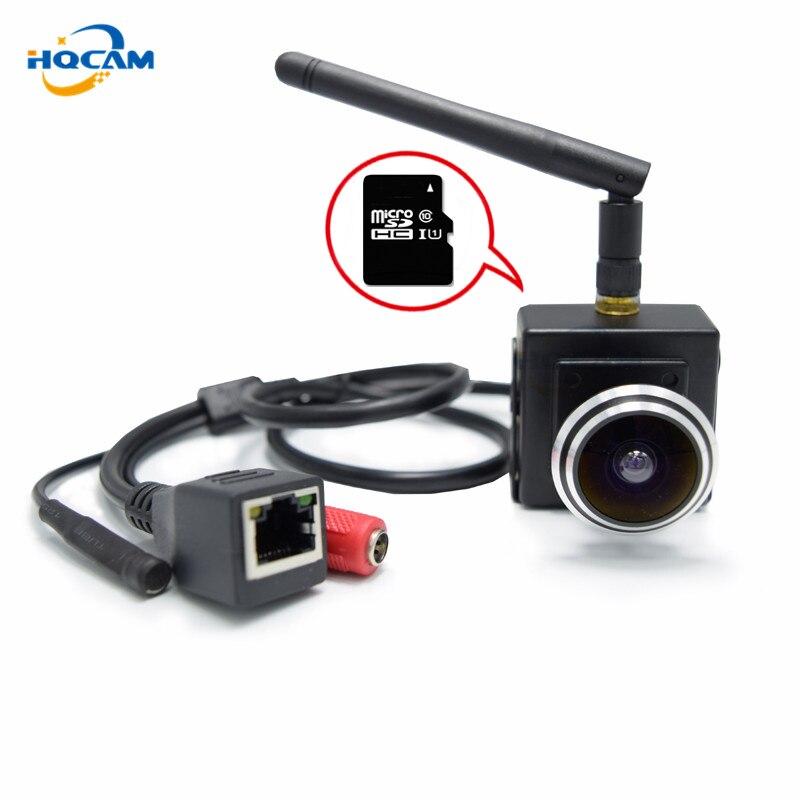 HQCAM 720P TF SD Card Cam wireless wifi P2P Mini IP Camera wi-fi Indoor webcamera External microphone wide Angle 160 degree легко пользоваться школа эз складочном np100 wifi sd кардридер специальный считыватель