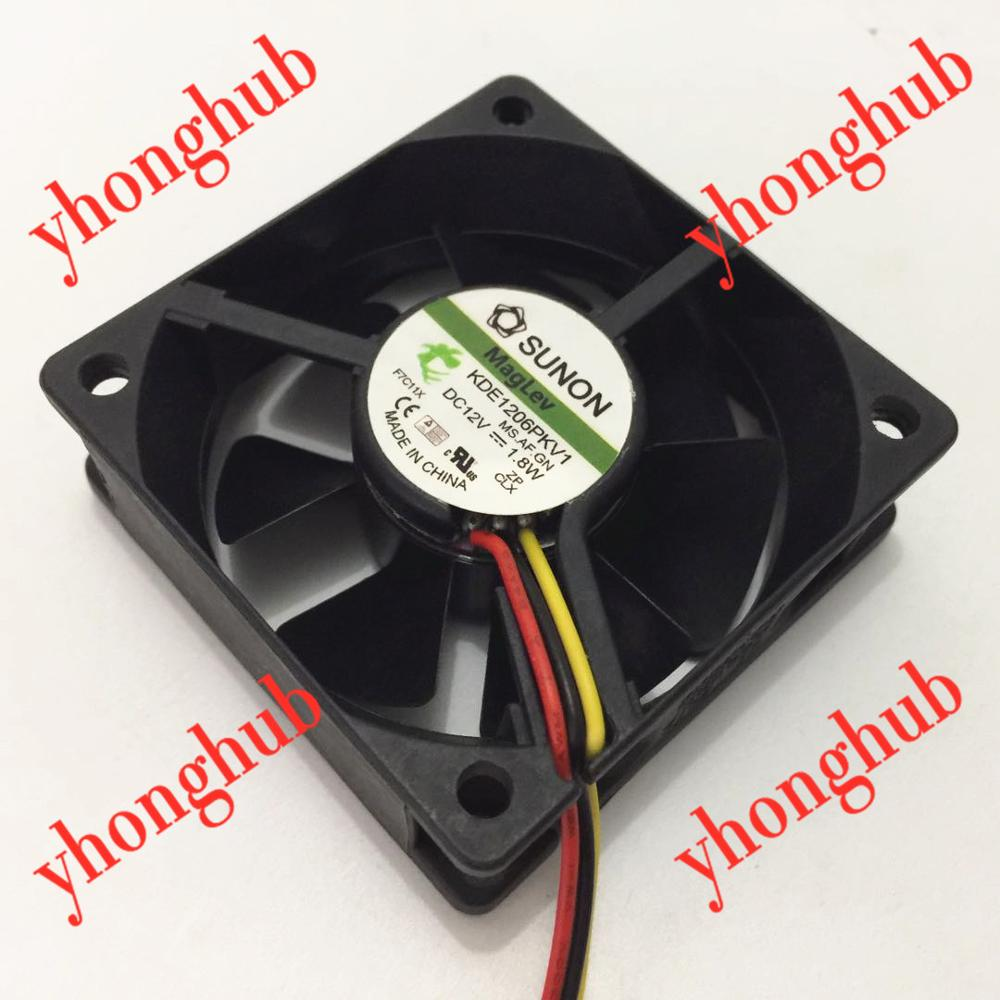 KDE1204PFV2 11.MS.AF.GN Cooling Fan DC12V 1.0W 40x40x10mm 2Pin 2 PC