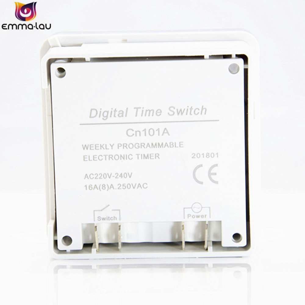 CN101A Digital LCD Power Programmable Timer Time Switch Relay 16A High Precision Strong Anti-interference