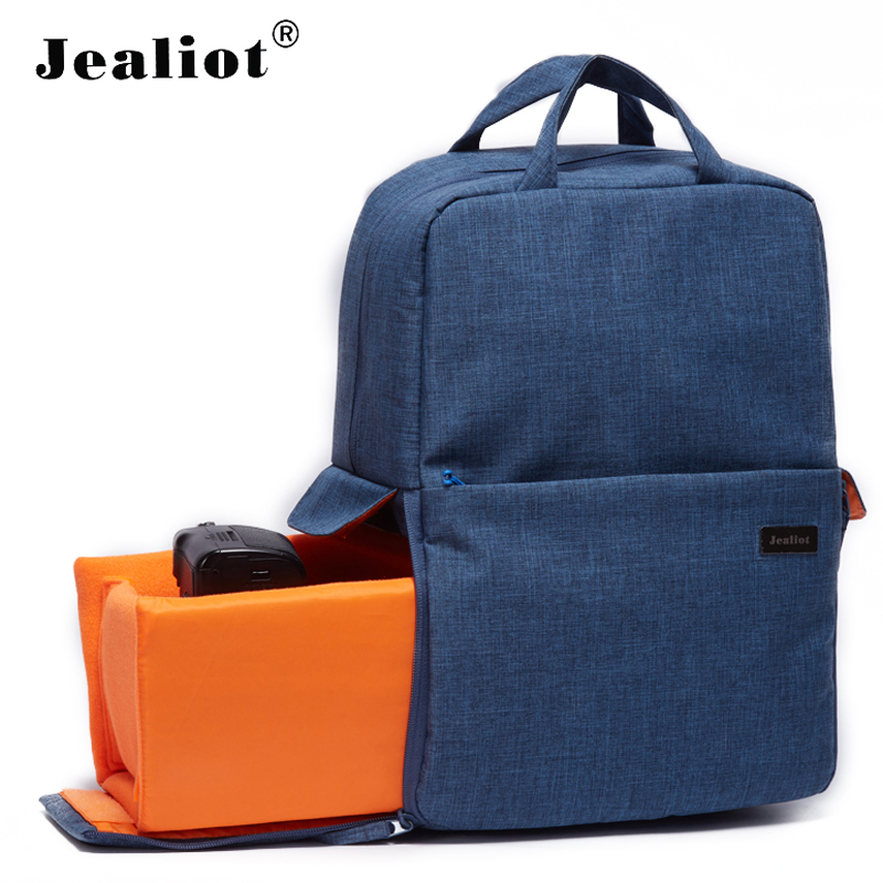 Jealiot Multifunctional Camera Bag insert digital camera DSLR SLR Backpack women men Travel bag Video Photo case for Canon Nikon fly leaf camera bag backpack anti theft camera bag with 15 laptop capacity for dslr slr camera