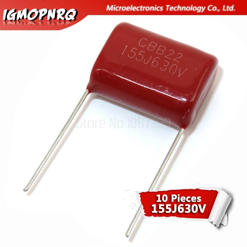 10pcs 474J 100V 0.47uF 5/% Dark Red Metallized Polyester Film Capacitor